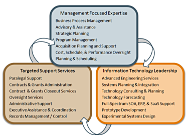 Managment focused expertise, targeted support services, and information technology leadership
